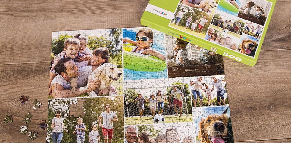 Teaser: Fotopuslespilcollage med enkelt layout