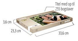 Puslespilæskens størrelse – fotopuslespil med 500 brikker