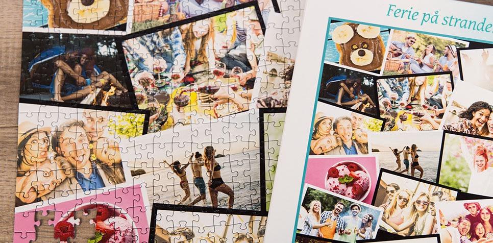 Teaser: Fotopuslespilcollage med overlappende layout