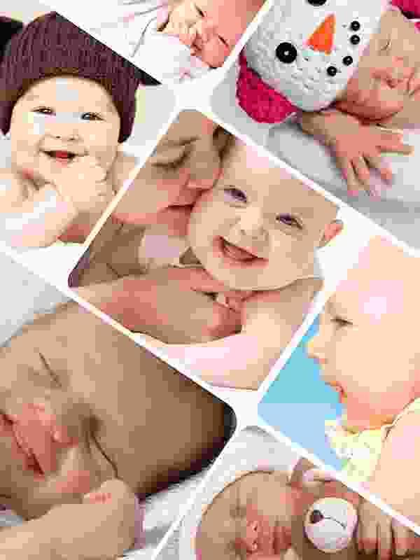 Fotopuslespilcollage kunstnerisk layout med 7 billeder