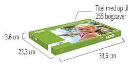 Puslespilæskens størrelse – fotopuslespil med 100 brikker