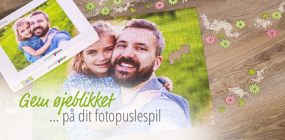 Puslespil mange formater, der er lette at bestille på puzzleyou.dk