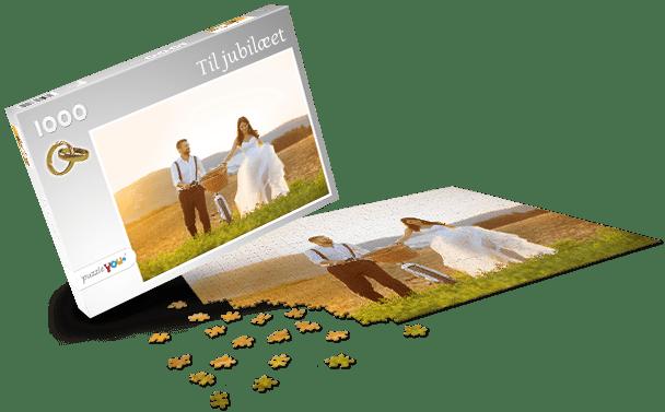 Puslespilæske – Bryllup
